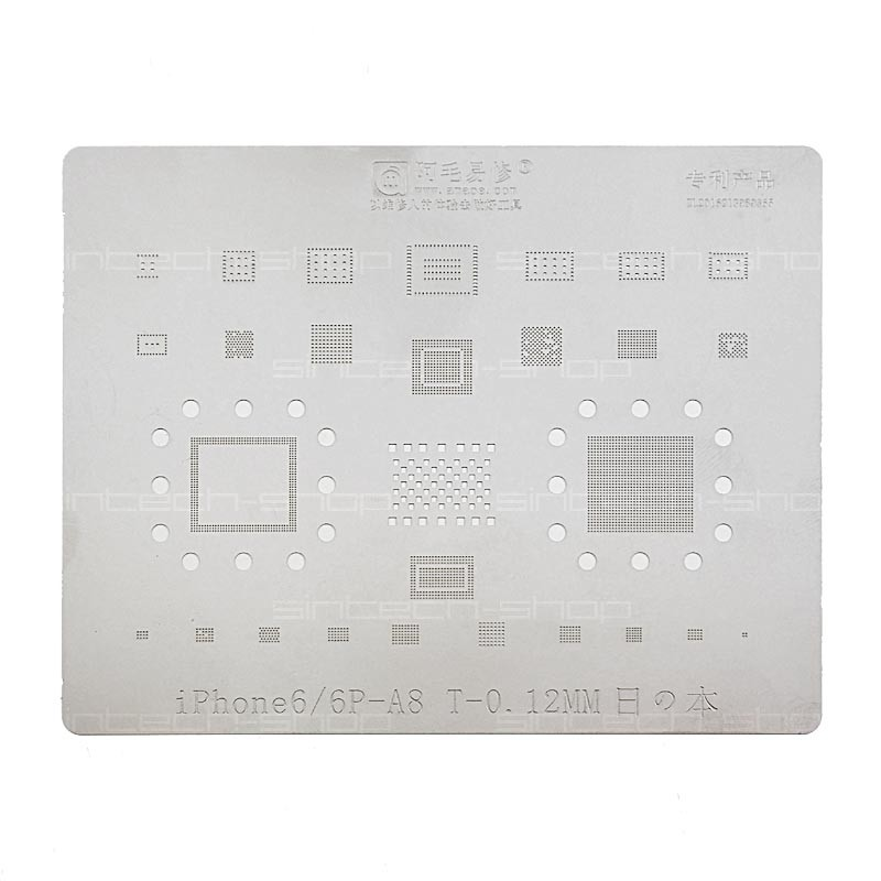 BGA Mobile IC Reballing Schablone Stencil Plant-tin-plate mit CPU für iPhone