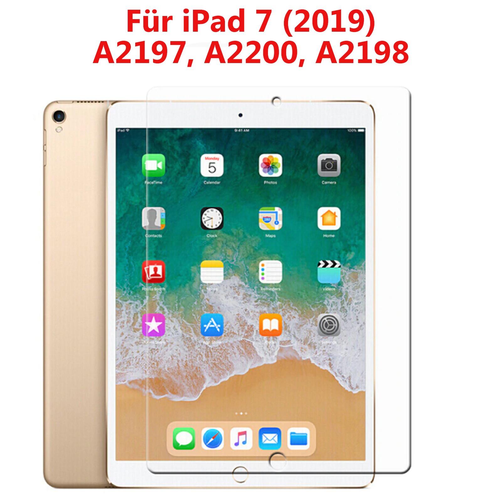 """Panzer Schutzfolie für iPad 7 (2019) 10,2""""  / Display-Schutzglas 9H HQ Premium"""