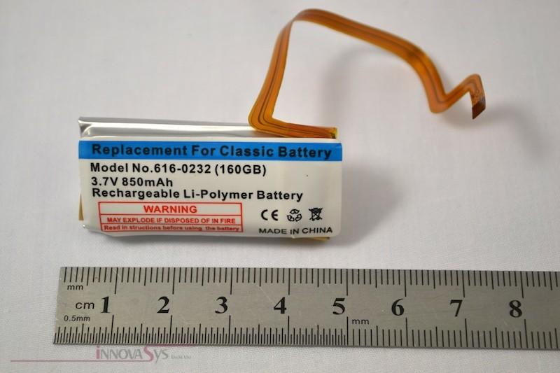 Akku / Batterie für iPod Video 60-80GB/iPod Classic 160GB,  850 mAh