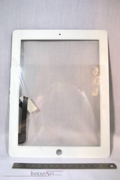 Frontscheibe + Touchscreen für iPad3 / iPad4, weiss