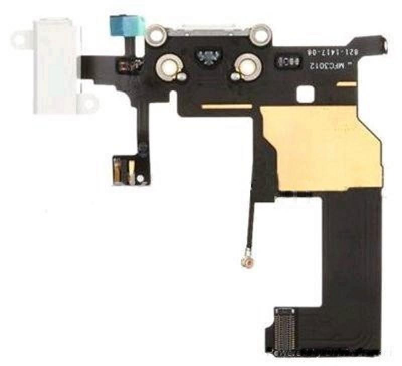 Docking port für iPhone 5 weiss mit Kopfhörerbuchse + Mikrofon USB Lightning