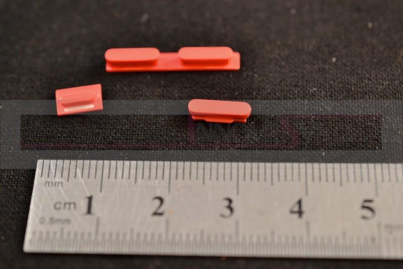 Button Set in rot (Lautstärke, Stummschaltung, Powerknopf) für iPhone 5C