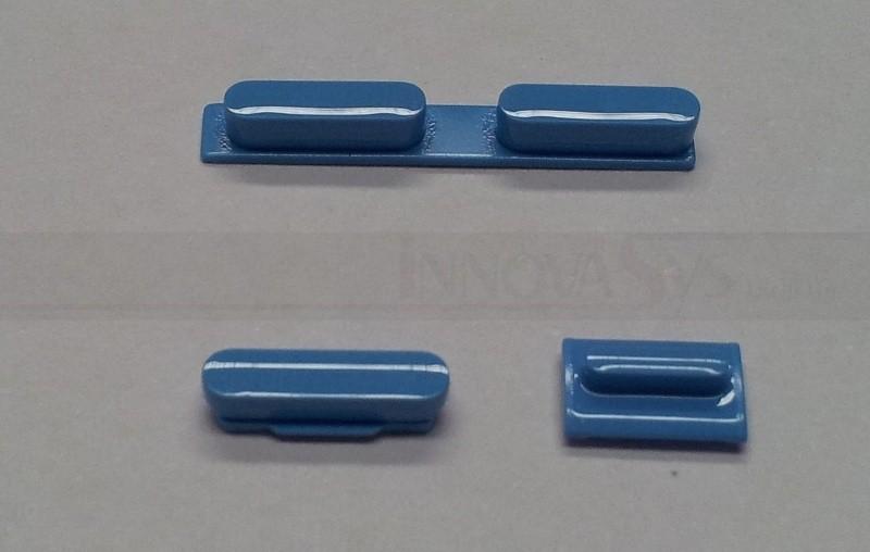 Button Set in blau (Lautstärke, Stummschaltung, Powerknopf) für iPhone 5C