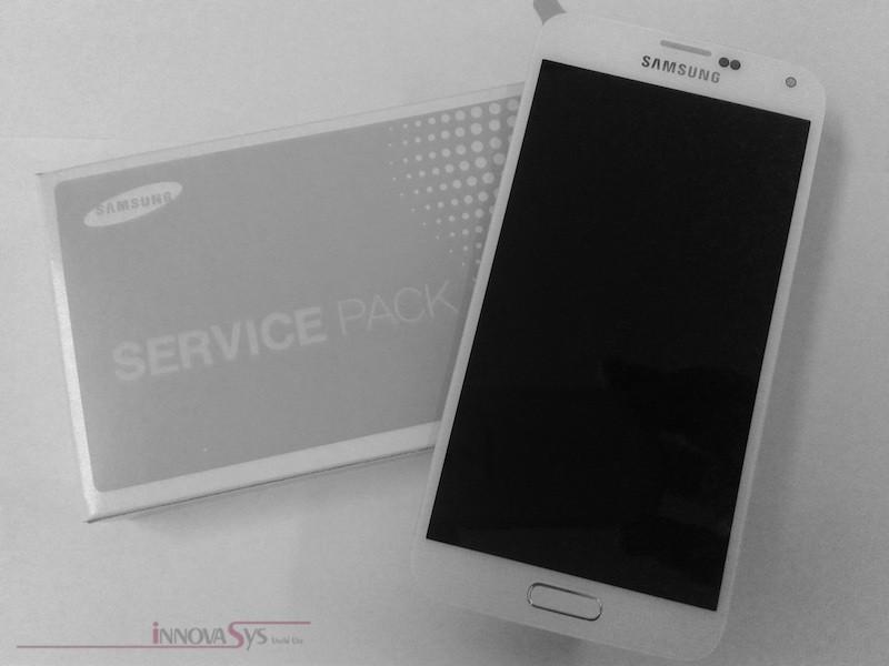 Display für Samsung Galaxy S5 (GH97-15734A) Touchscreen, LCD + Rahmen in weiss