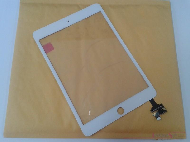 Premium Frontscheibe + Touchscreen komplett für iPad Mini 3, weiss. OEM-Qualität mit IC Chip