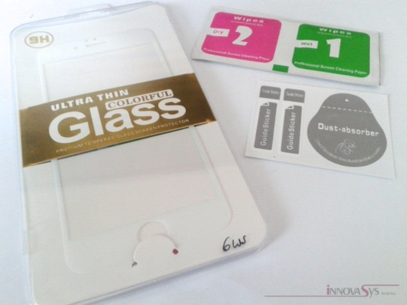 Premium Panzer Glas / Display-Schutzglas 9H für iPhone 6 6s weiss