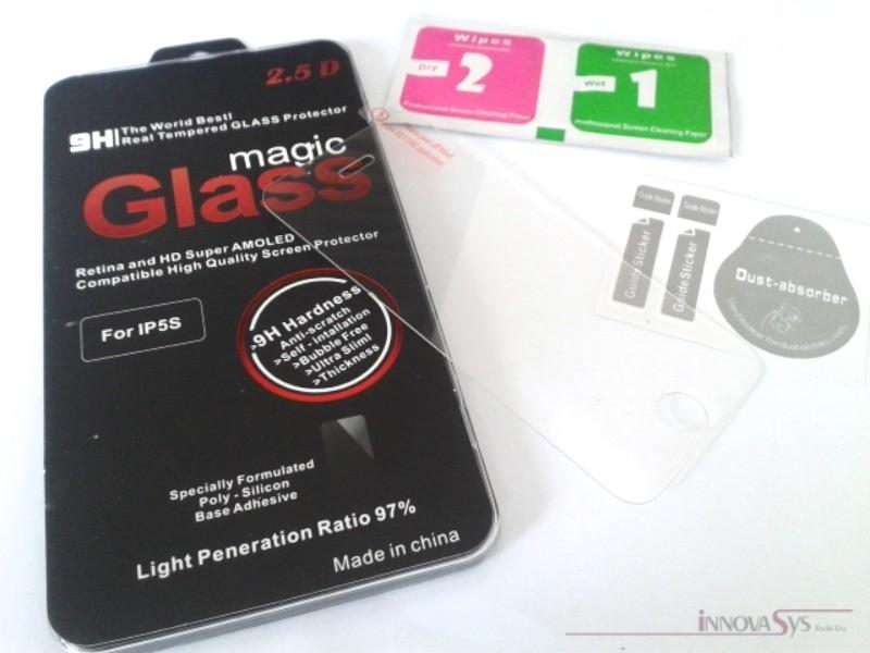 Premium Panzer Glas / Display-Schutzglas 9H für iPhone 5 / 5S / 5C / SE