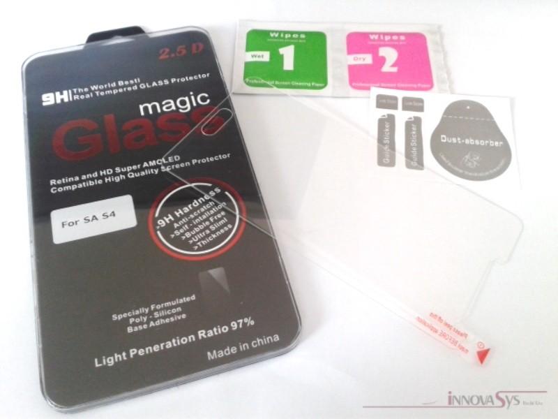 Panzer Glas / Display-Schutzglas 9H für Samsung Galaxy S4