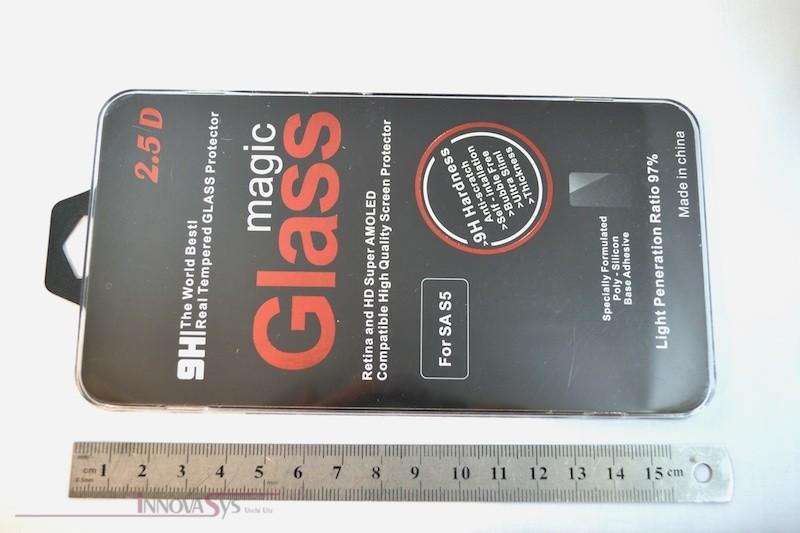 Panzer Glas / Display-Schutzglas 9H für Samsung Galaxy S5