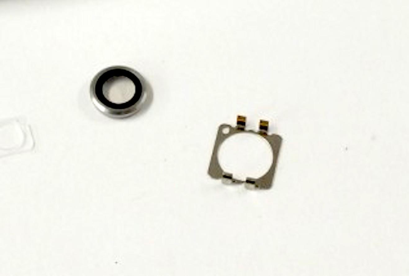 Kameralinse (hinten) mit Ring für iPhone 6 / 6S in weiss