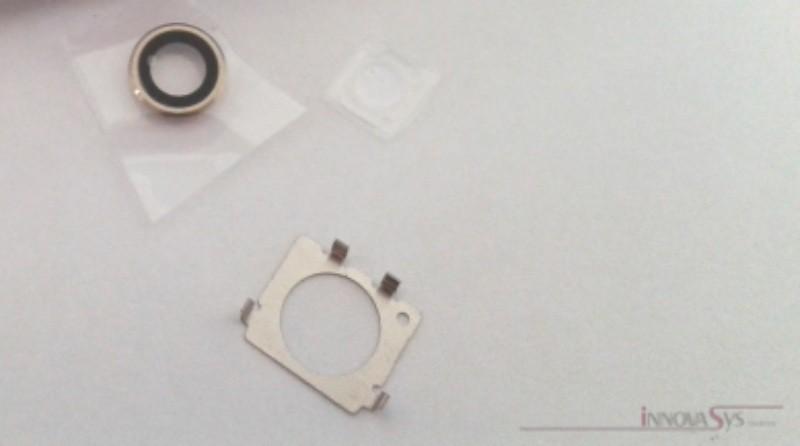 Kameralinse (hinten) mit Ring für iPhone 6+ in gold