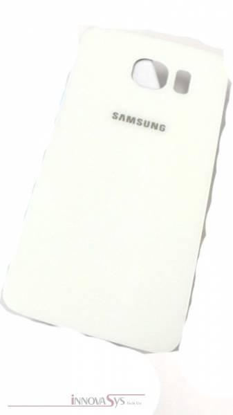 Samsung Galaxy S6 G920F Akkudeckel Glas weiss Backcover Rückseite