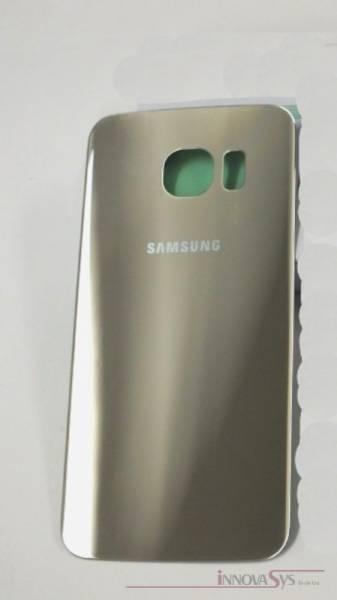 Samsung Galaxy S6 Edge G925F Akkudeckel Glas gold Backcover Rückseite