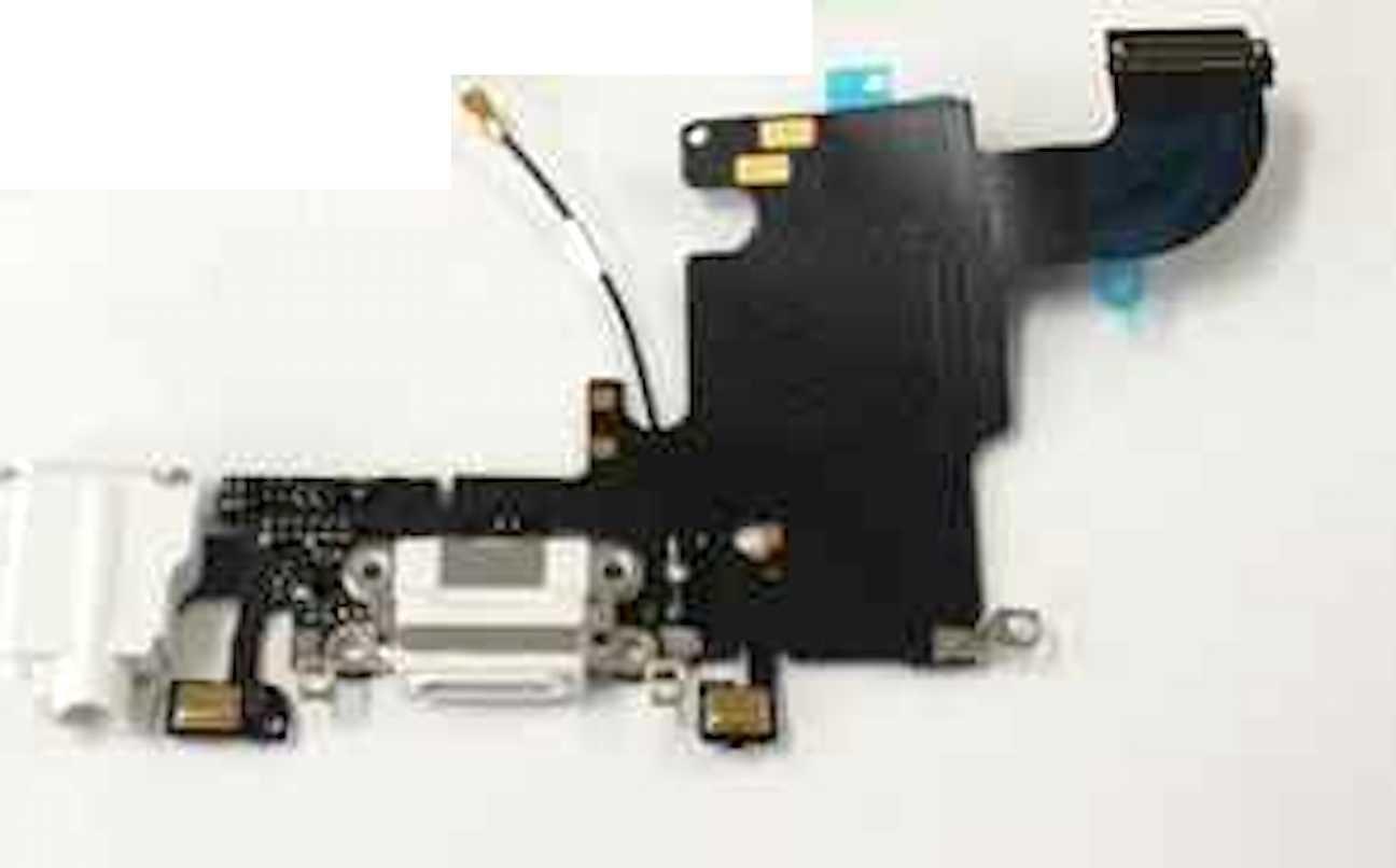 Ladebuchse Docking Port für iPhone 6S weiss Kopfhörerbuchse + Mikrofon lightning