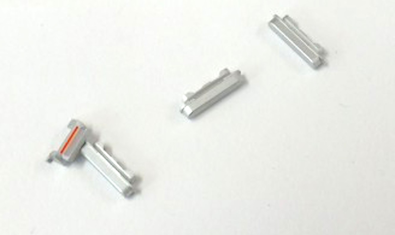 Button Set (Lautstärke, Stummschaltung, Powerknopf) silber für weisses iPhone 6