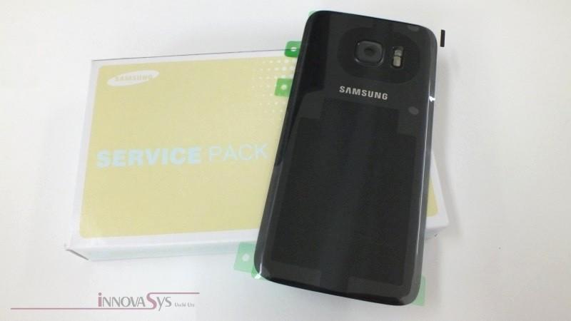 Samsung Galaxy S7 G930F Akkudeckel Glas schwarz Backcover Rückseite GH82-11384A