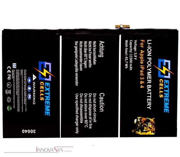 EXTREMECELLS© iPad3 + iPad4 Ersatzakku Premium-Qualität, Neuware