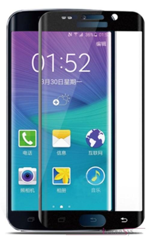 Premium Panzer Glas / Display-Schutzglas 9H für Samsung Galaxy S7 Edge Schwarz
