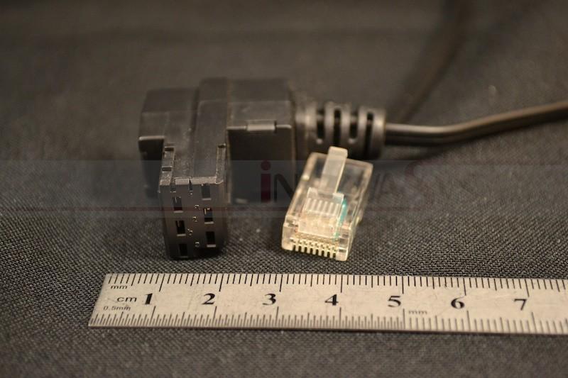Telefonkabel, 10 m, mit Reichle-Adapterstecker