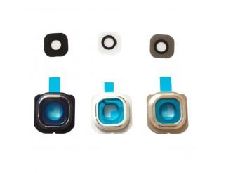 Kamera Linse (Glas) mit Rahmen (hinten) und Kleber für Samsung Galaxy S6 G920f