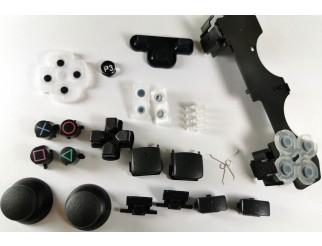 Button Tasten Set komplett für PS2 / PS3 Controller schwarz