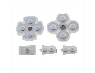 Gummi Matte Pads Rubber Set für Playstation 4 / PS4 Controller JDM-040