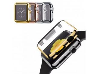Schutzhülle für Apple Watch Serie 1, 2, 3, 4 Cover Case Bumper Schutz Hülle mit Schutzglas Displayschutz für iWatch Ultra-Thin