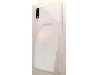 Samsung Galaxy A70 (2019) original Akkudeckel/Backcover white/weiss gebraucht