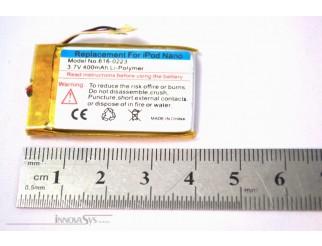 Akku / Batterie 400 mAh für iPod Nano 1G