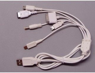 6in1 USB-Kabel für NDSi/NDSL/NDS/GBA SP/PSP/MINI 5P/iPOD/iPhone/iPad