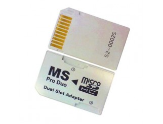 ProDuo auf Micro SD(HC) Adapter - Dual Socket f. PSP