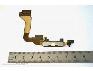 Docking Anschluss mit Kabel für iPhone 4, schwarz