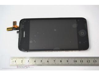 LCD Kompletteinheit mit Touchscreen und Frontscheibe für iPhone 3GS