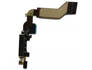 Docking Anschluss mit Kabel für iPhone 4S schwarz