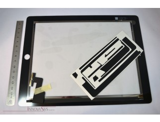 Frontscheibe + Touchscreen für iPad2, schwarz