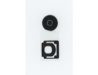 Home Button für iPad2/3/4, schwarz mit Spacer (Gummilippe)