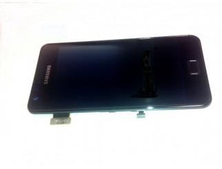 Display für Samsung Galaxy S2 (i9100) Touchscreen, LCD + Rahmen in schwarz