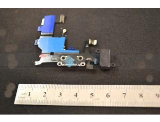 Docking port mit Kopfhörerbuchse und Flexkabel für iPhone 5 schwarz