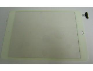 Frontscheibe + Touchscreen komplett für iPad Mini, weiss. Kein Löten, mit Connector und Home Button flex