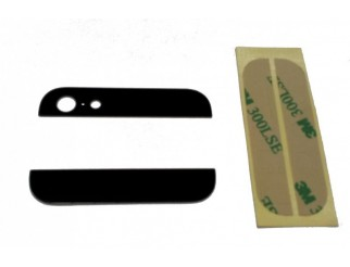 Backcover Glas Abdeckung oben/unten für iPhone 5S schwarz