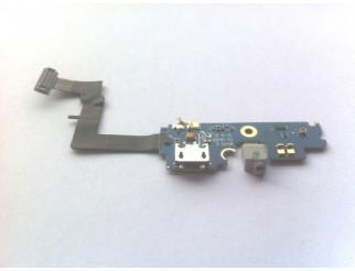 Micro USB Buchse für Samsung GT-I9100 Galaxy S2 + Mikrofon Flex + Gummi Rev 2.3