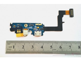 Micro USB Buchse + Mikrofon Flex + Gummi für Samsung GT-I9100 Galaxy S2