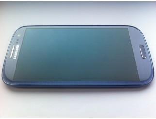 Display für Samsung Galaxy S3 (i9300) Touchscreen, LCD + Rahmen in blau