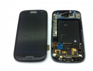 Display für Samsung Galaxy S3 (i9300) Touchscreen, LCD + Rahmen in schwarz