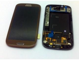 Display für Samsung Galaxy S3 (i9300) Touchscreen, LCD + Rahmen in braun