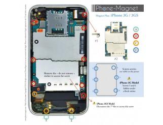 Phone-Magnet : iPhone 3G/3GS Magnetische Profi-Schraubenaufbewahrung
