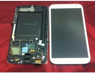 Display für Samsung Galaxy Note 2 (N7100) Touchscreen, LCD + Rahmen in weiss