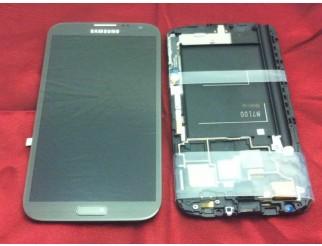 Display für Samsung Galaxy Note 2 (N7100) Touchscreen, LCD + Rahmen in grau