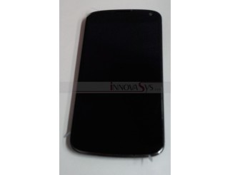 Original LG Google Nexus 4 E960 LCD Display Touchscreen komplett mit Rahmen
