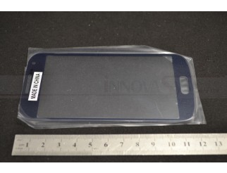 Frontscheibe für Samsung Galaxy S4 Mini i9190 +  i9195 LTE in schwarz/nachtblau